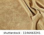 Velvet Texture Beige Color...