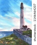 Lighthouse Watercolor Painting...