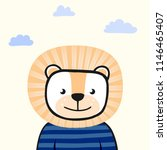 cute animal. line. character.... | Shutterstock .eps vector #1146465407