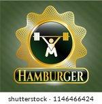 golden badge with snatch ... | Shutterstock .eps vector #1146466424