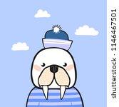 cute animal. character. vector. | Shutterstock .eps vector #1146467501