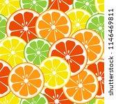 citrus fruits seamless pattern. ...   Shutterstock .eps vector #1146469811