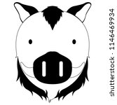 isolated cute wild boar avatar   Shutterstock .eps vector #1146469934
