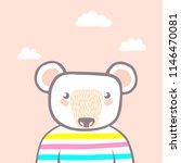cute animal. character. vector. | Shutterstock .eps vector #1146470081