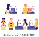 online communication and love... | Shutterstock .eps vector #1146474041