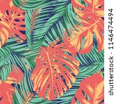 summer exotic floral tropical... | Shutterstock .eps vector #1146474494