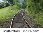 the old railroad   fragments | Shutterstock . vector #1146474824