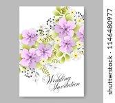 floral wedding invitation... | Shutterstock .eps vector #1146480977