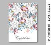 floral wedding invitation...   Shutterstock .eps vector #1146481121