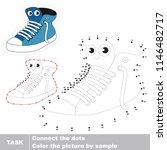 running shoe smiling. dot to... | Shutterstock .eps vector #1146482717