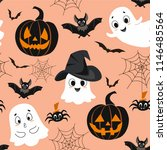 Halloween Pattern. Vector...
