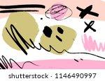 brush strokes texture  scribble ... | Shutterstock .eps vector #1146490997