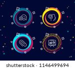 set of dating  paper clip and...   Shutterstock .eps vector #1146499694