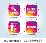 demo with cursor icon.... | Shutterstock .eps vector #1146499697