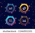 set of financial diagram  usd... | Shutterstock .eps vector #1146501101