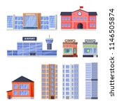 city residential and non... | Shutterstock .eps vector #1146505874