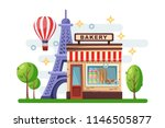 french bakery building with... | Shutterstock .eps vector #1146505877