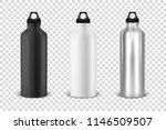 vector realistic 3d black ... | Shutterstock .eps vector #1146509507