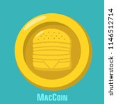 vector icon mcdonalds gold coin ... | Shutterstock .eps vector #1146512714