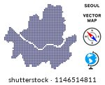 dot seoul city map. abstract... | Shutterstock .eps vector #1146514811