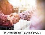 business team greeting... | Shutterstock . vector #1146519227
