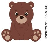 brown teddy bear | Shutterstock .eps vector #114653131