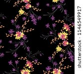 small floral seamless pattern... | Shutterstock .eps vector #1146549917