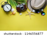 flat lay traveling holiday... | Shutterstock . vector #1146556877