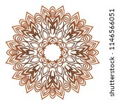 mandala style   color shapes.... | Shutterstock . vector #1146566051