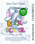 back to school poster template... | Shutterstock .eps vector #1146588521