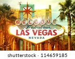 Stock photo fabulous vegas welcome to fabulous las vegas nevada vegas strip entrance sign american cities 114659185