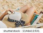 summer beach vacation concept ... | Shutterstock . vector #1146611531