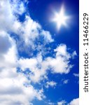 sun and beautiful clouds on... | Shutterstock . vector #11466229