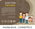 doctor and family with children ... | Shutterstock .eps vector #1146625211