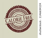 red calorie free grunge style... | Shutterstock .eps vector #1146634124