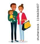 happy african american family... | Shutterstock .eps vector #1146636407