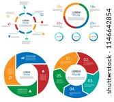 pie chart infographics set | Shutterstock .eps vector #1146642854