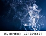smoke on blackbackground | Shutterstock . vector #1146646634