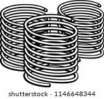 coil compression springs | Shutterstock .eps vector #1146648344