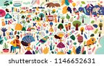 amazing vector collection of... | Shutterstock .eps vector #1146652631