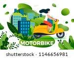 vector illustration   girl... | Shutterstock .eps vector #1146656981