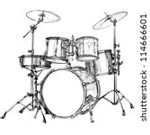 Vector Illustration Of A Drum...