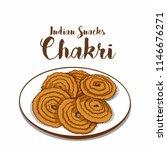 indian traditional snacks chakri | Shutterstock .eps vector #1146676271