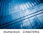clouds reflected in windows of... | Shutterstock . vector #1146676961