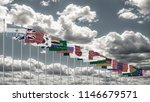 g20 summit flag silk waving... | Shutterstock . vector #1146679571