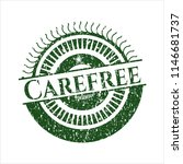 green carefree rubber stamp | Shutterstock .eps vector #1146681737