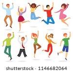 jumping people vector happy...   Shutterstock .eps vector #1146682064