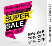 colorful geometric sale  super... | Shutterstock .eps vector #1146683114