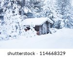 Small Wooden Blockhouse In The...