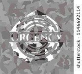 urgency grey camouflaged emblem | Shutterstock .eps vector #1146692114